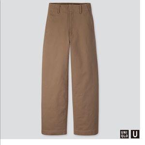 uniqlo u wide fit curved pants